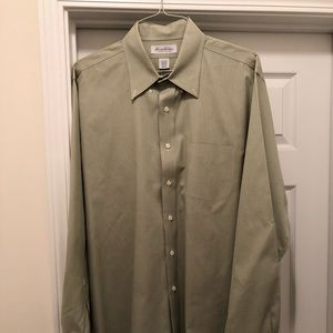 Brooks Brothers - 17 1/2-36/37 - Green Dress Shirt